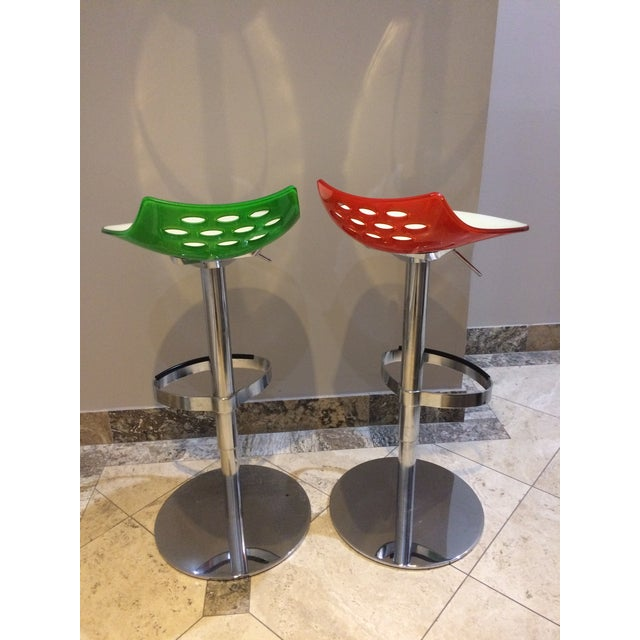 Calligaris Adjustable Swivel Barstools - A Pair - Image 3 of 3