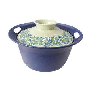 Scandinavian Stoneware Covered Pot