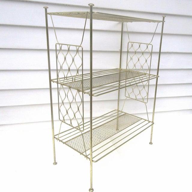 Vintage Metallic Brass Display Shelf - Image 8 of 8