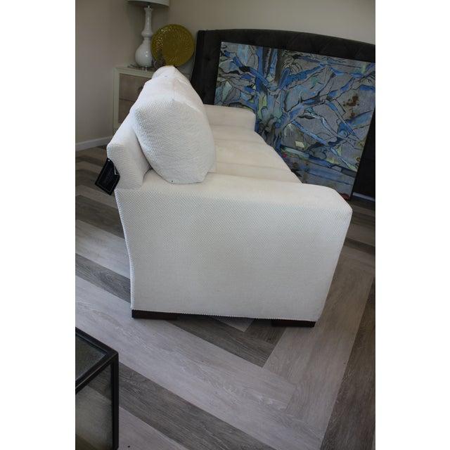 Contemporary Contemporary Century Furniture White Fabric Sofa For Sale - Image 3 of 7