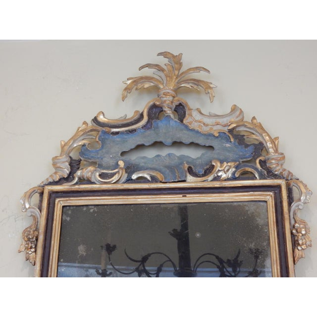 Italian Early 19th Century Italian Rococo Painted and Gilt Mirror For Sale - Image 3 of 9