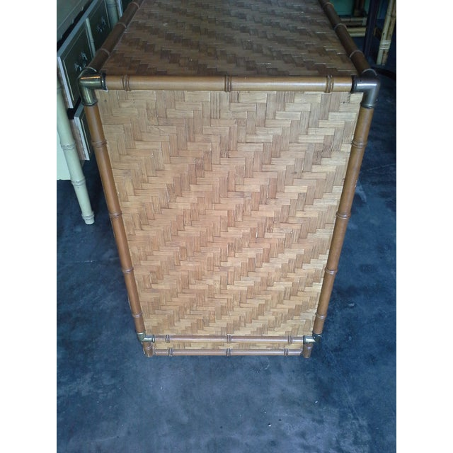 Dixie Furniture Co. Boho Bamboo & Woven Wicker Dresser For Sale In Tampa - Image 6 of 11
