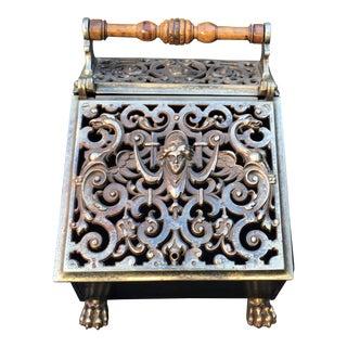 Antique French Neoclassical Coal Scuttle Bin