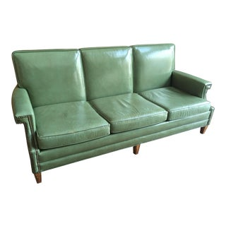Mid-Century Modern Patent Leather Lounge Sofa by Monarch For Sale