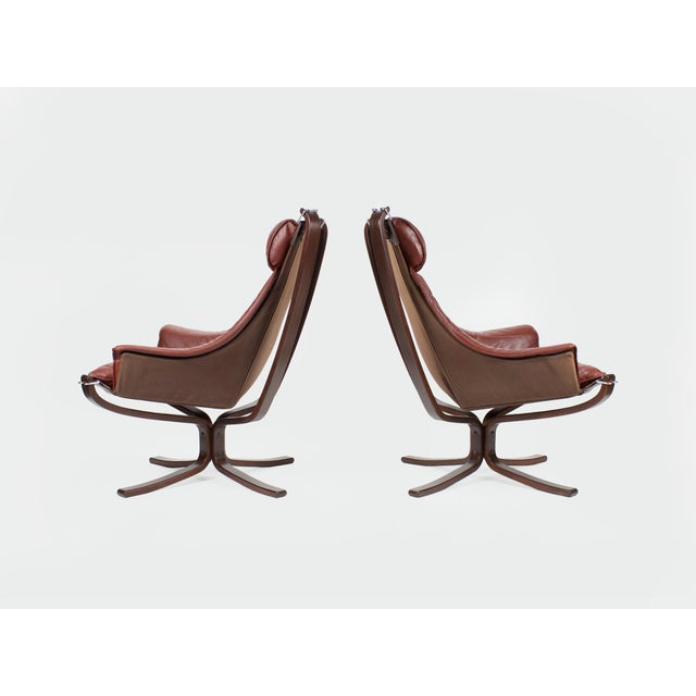 Danish Modern 1970s Sigurd Resell for Vatne Møbler Falcon Lounge Chairs- A Pair For Sale - Image 3 of 13