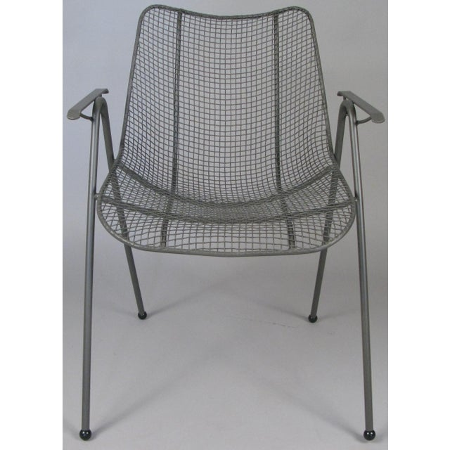 Industrial 1950's Woodard Sculptura Patio Dining Chairs - Set of 6 For Sale - Image 3 of 12