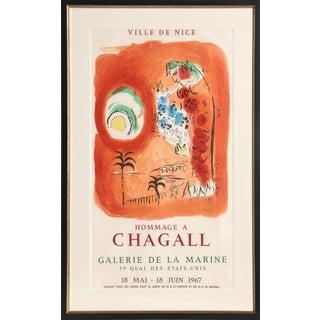 """After Marc Chagall, """"La Baie Des Anges, Galerie De La Marine"""", Lithograph Poster For Sale"""