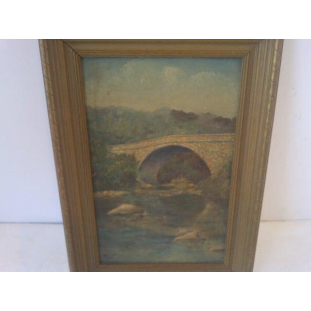 American Schenley Bridge Original Painting 1938 For Sale - Image 3 of 6