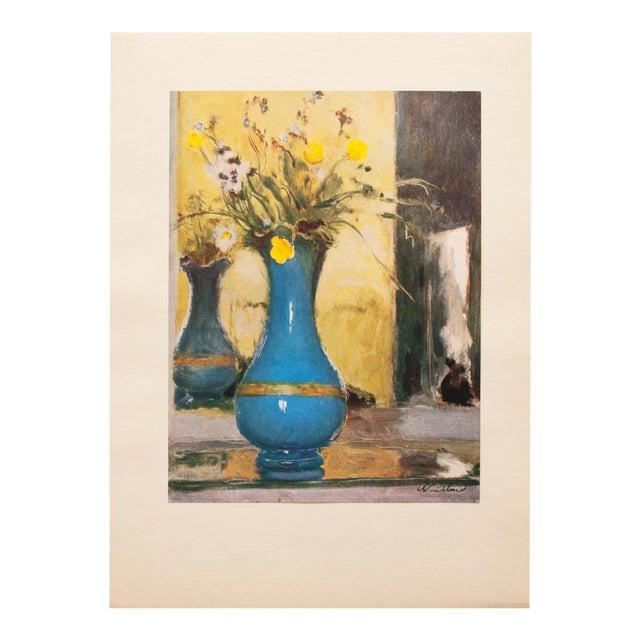 1947 Edouard Vuillard Le Vase Bleu Lithograph For Sale