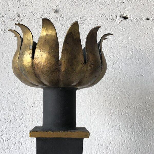 Late 20th Century Gilbert Poillerat Style Sconce For Sale - Image 5 of 8