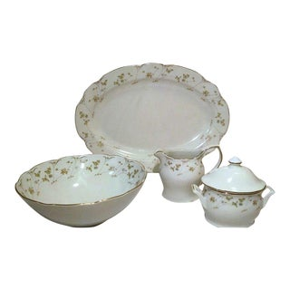 Premiere Mikasa Briarwood China Hostess Set - 5 Piece For Sale