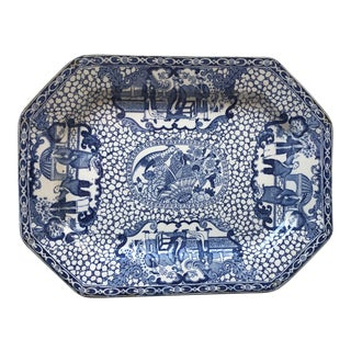 """Antique English Adams """"Chinese Bird"""" Platter For Sale"""