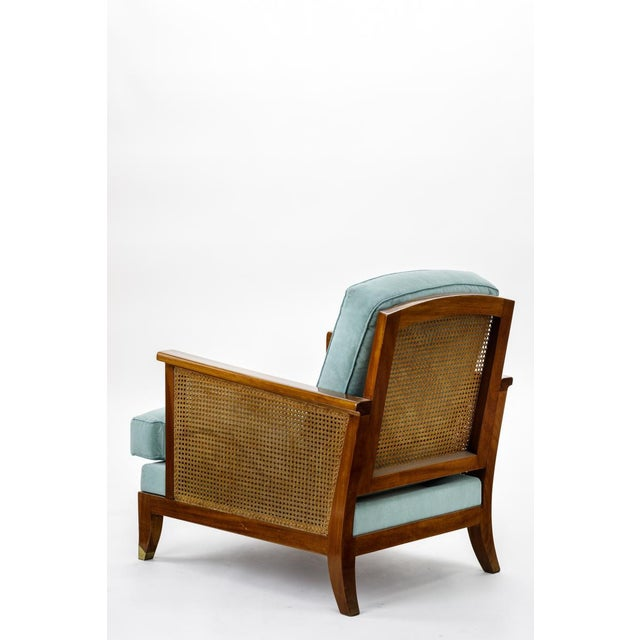 Mid-Century Modern Maurice Jallot Refined Caned Arm Chair(attributed) For Sale - Image 3 of 5