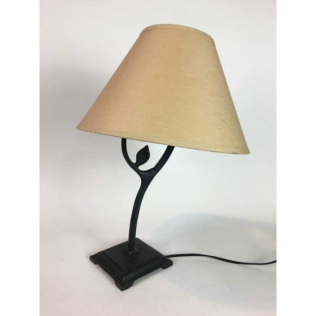 Restoration harware iron metal base table lamp chairish restoration harware iron metal base table lamp image 8 of 8 aloadofball Image collections
