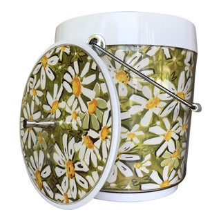 1960's Daisy Print Ice Bucket