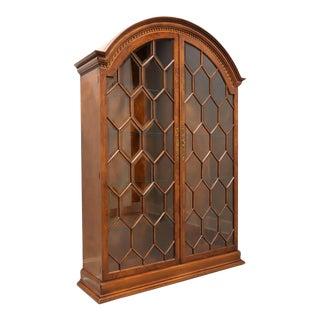 Francesco Molon for Giemme Burl Walnut Display Cabinet For Sale