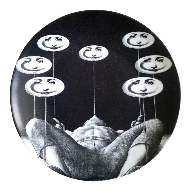 Fornasetti Tema E Variazioni Plate, Number 193 For Sale