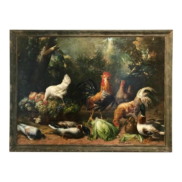 Monumental English 19th Century Farm Scene For Sale