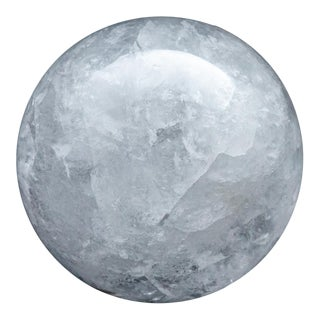 Large Rock Crystal Sphere For Sale