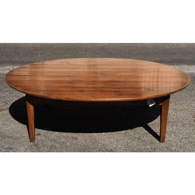 Antique Cherry Wood French Country Coffee Table Chairish - Cherry wood conference table