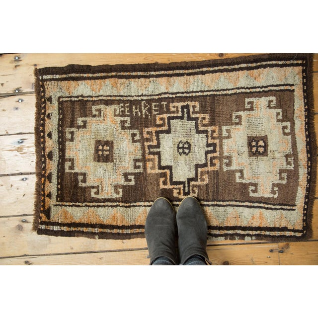 "Islamic Vintage Oushak Rug Mat- 2'1"" x 2'11"" For Sale - Image 3 of 6"