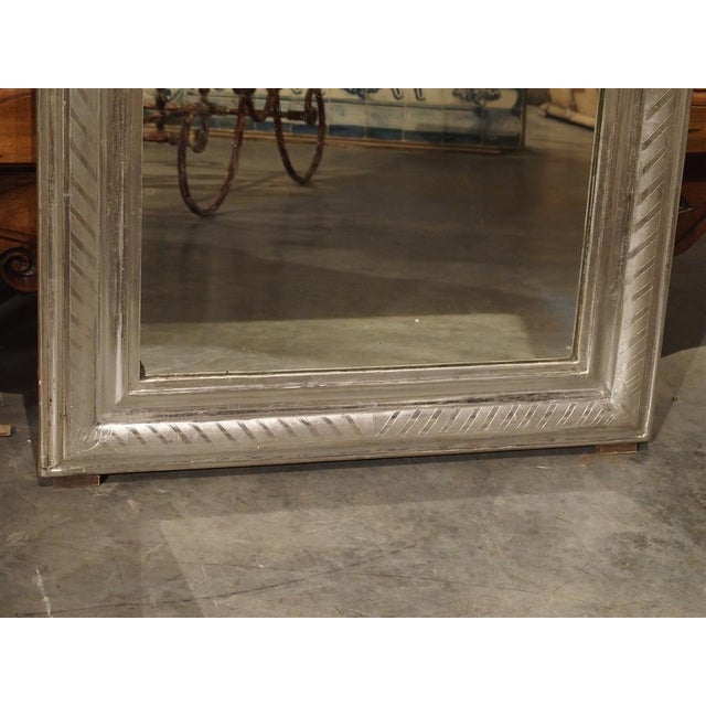 French Antique French Louis Philippe Silverleaf Mirror For Sale - Image 3 of 9