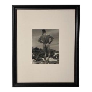Bruce of La Photograph, Man on a Beach, Circa 1940 For Sale
