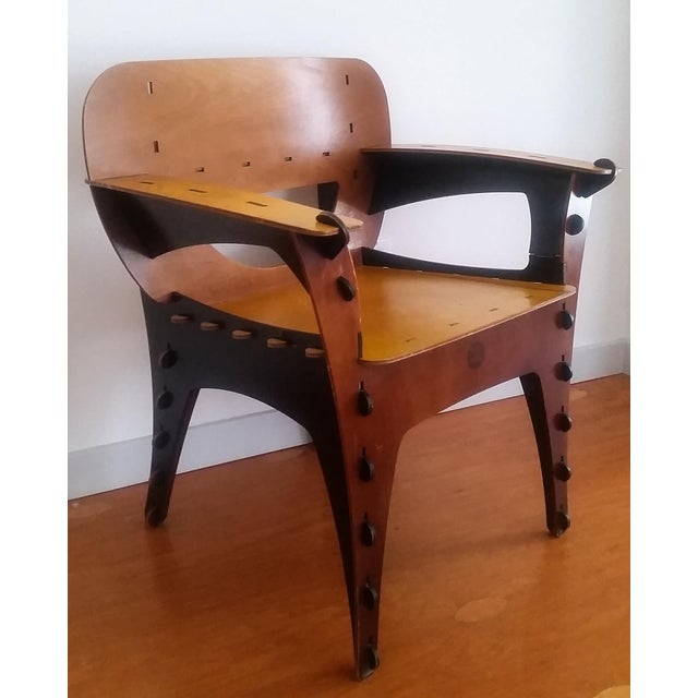Contemporary Modern David Kawecki Puzzle Chair Vintage For Sale - Image 3 of 6