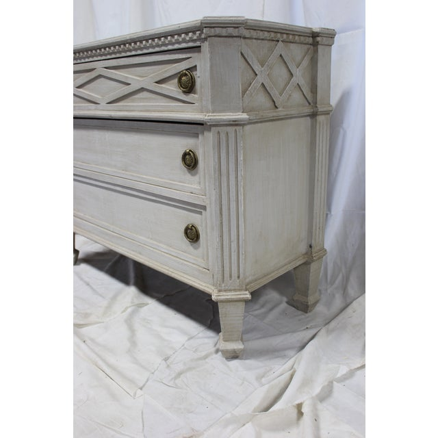 Early 20th Century 20th Century Gustavian Gray Oak Dresser For Sale - Image 5 of 6