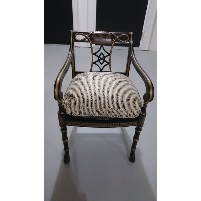 Lion's Paw Feet Side Chairs with Fretwork - A Pair - Image 3 of 6