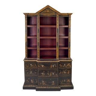 George III Jappaned Breakfront Cabinet For Sale
