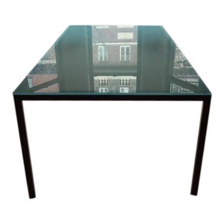 Conrad Glass Dinning Room Table on Steel Base - Image 1 of 4