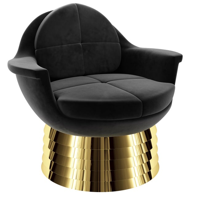 Brass Iris Lounge Chair by Artist Troy Smith - Contemporary Design For Sale - Image 7 of 7