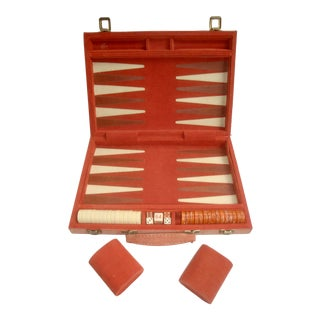 Creamsicle Orange and White Backgammon Game For Sale