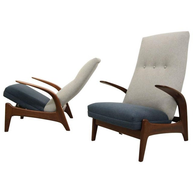 Vintage Gimson & Slater Reclining Lounge Chairs - A Pair - Image 1 of 7
