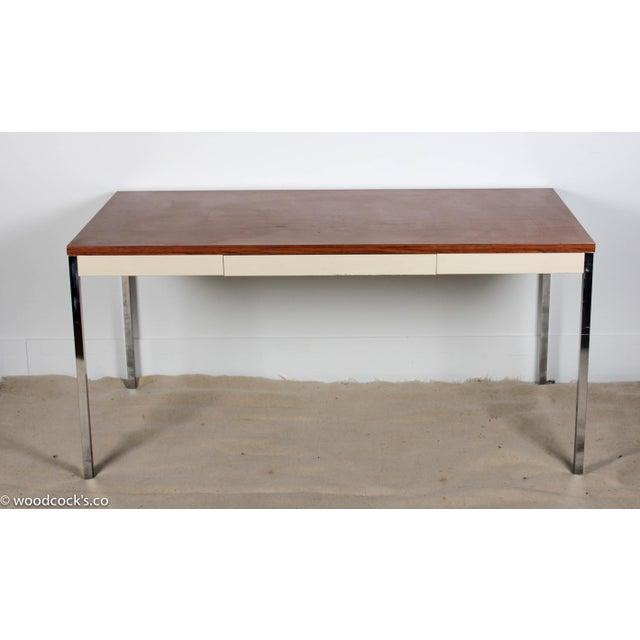 Steelcase Modern Minimalist Writing Desk - Image 3 of 9