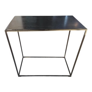 Industrial Metal Console Table For Sale