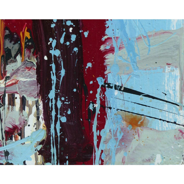 """William P. Montgomery Abstract Triptych Painting on Wood """"Rollercoaster"""", 2016 For Sale In Miami - Image 6 of 13"""