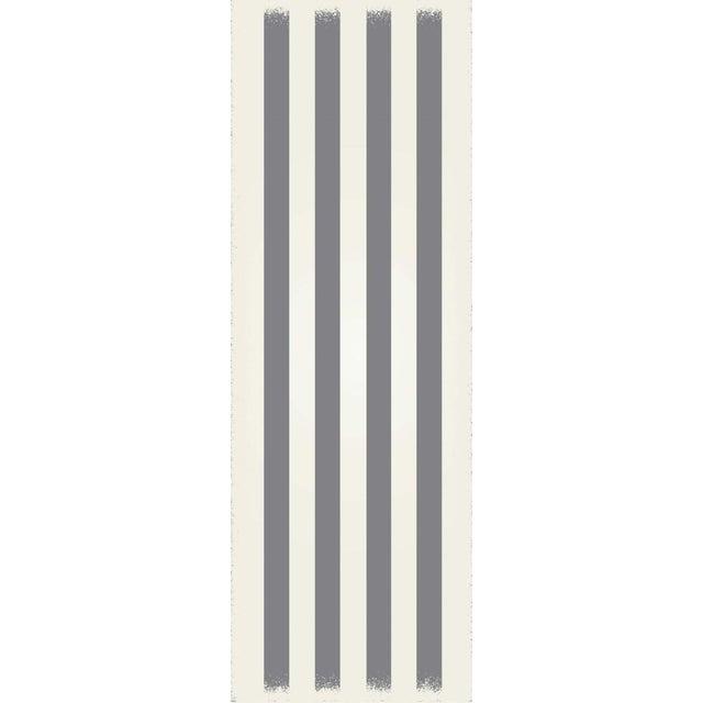 Modern Grey & White Striped European Design Rug - 2' X 6' For Sale - Image 3 of 3