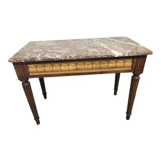 Antique Empire Marble Topped Console Table For Sale