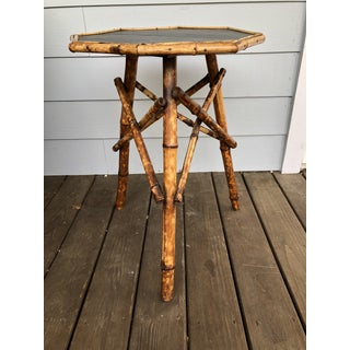 1900s Boho Chic Bamboo Octagonal Table Preview