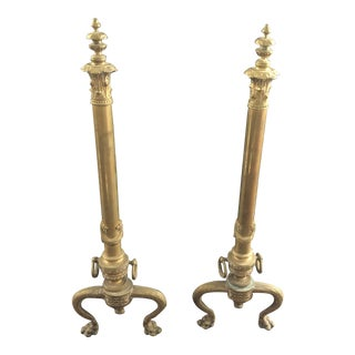 Antique French Andirons - a Pair For Sale
