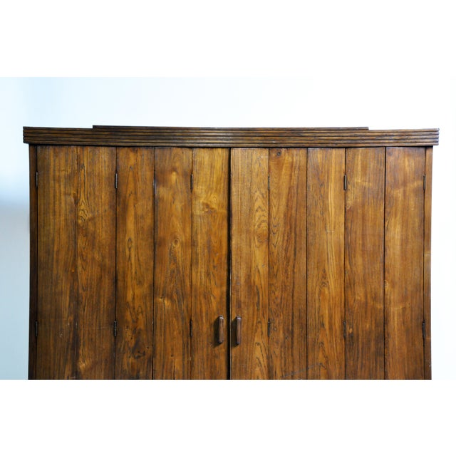Art Deco Cabinet With Five-Panel Folding Doors From Burma For Sale - Image 4 of 13