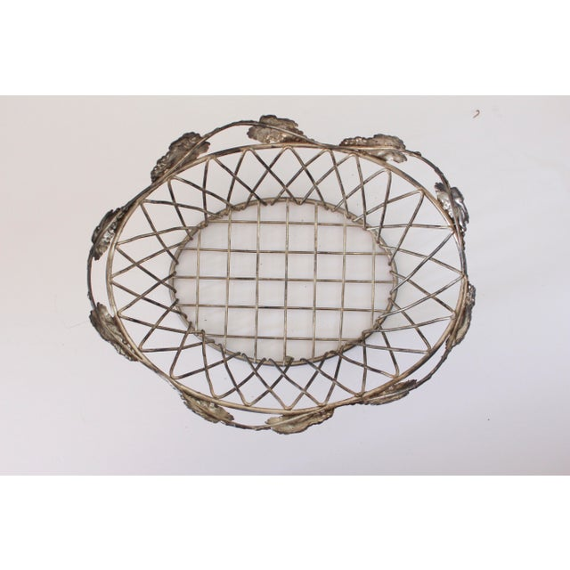 Beautiful vintage wire basket with leaf detailing. I sourced this from the flea market and had used it to hold hair...