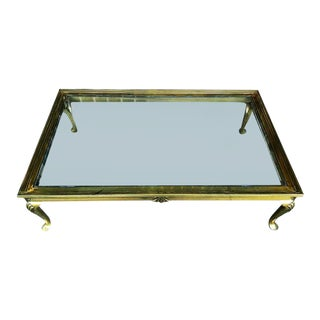 1970s Brass Coffee Table For Sale
