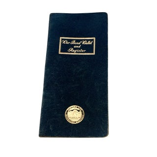 Black Leather War Bond Wallet & Register