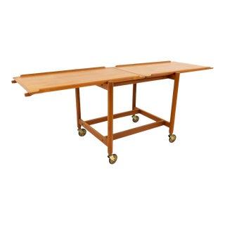 20th Century Danish Modern Poul Hundevad for Vandrup Teak Server/Bar Cart For Sale