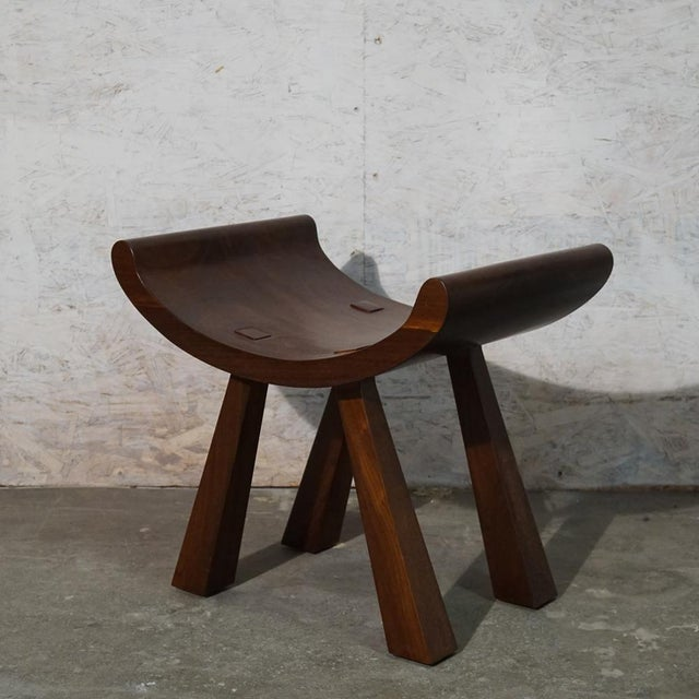 Butterfly Stool Solid walnut shaped stool with express joinery!
