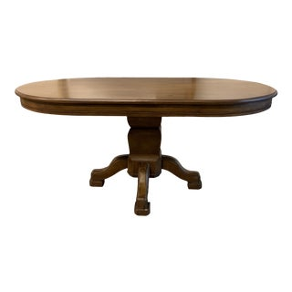 Contemporary French Inspired Race Track Wood Table For Sale