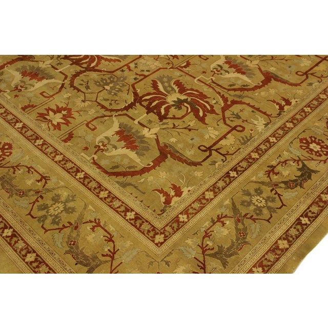 Traditional 1950's Persian Karri Rust Hand-Knotted Rug -10'0 X 13'8 For Sale - Image 3 of 9